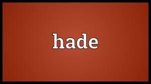 Hade crack